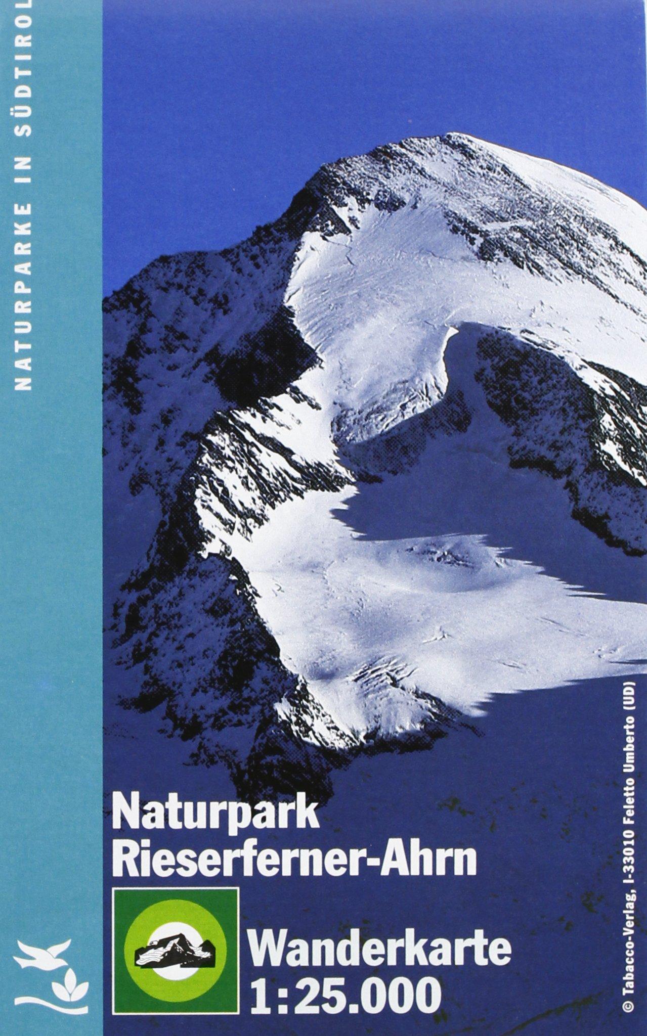 Naturparkkarte Rieserferner, Ahrntal: Wanderkarte Tabacco. 1:25000