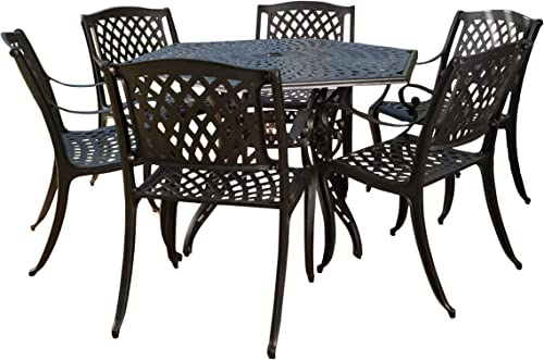 Christopher Knight Home Hammond Outdoor Cast Aluminum Patio Dining Set