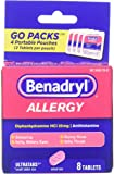 Benadryl Allergy Ultratabs Tablets, Go Packs, 8 Count