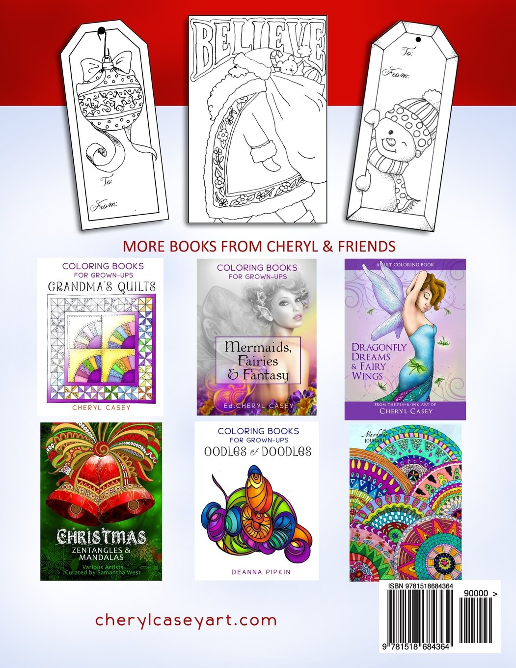 amazoncom christmas cards gift tags coloring books for grownups adults wingfeather coloring books volume 3 9781518684364 cheryl casey - Coloring Book For Grown Ups