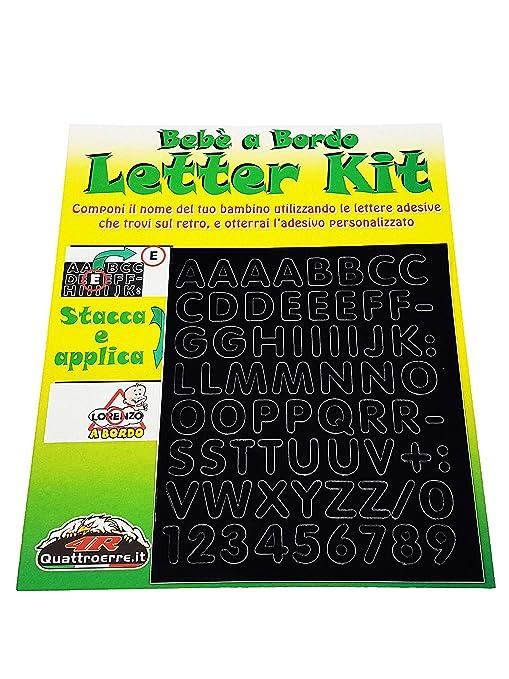 Quattroerre 1227 Kit Lettere Adesive Bebè A Bordo Amazonit Auto E