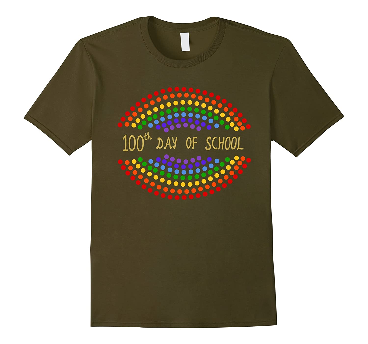 100th Day of School T-Shirt for Teachers and Kids-Rose