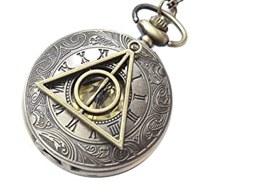 Deathly hallows pocket watch necklace jewelry pendant mens gift deathly hallows pocket watch necklace jewelry pendant mens gift steampunk style aloadofball Choice Image