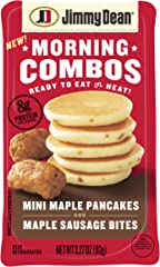 Jimmy Dean Morning Combos, Mini Maple Pancakes and Maple Sausage Bites, 3.27 oz.