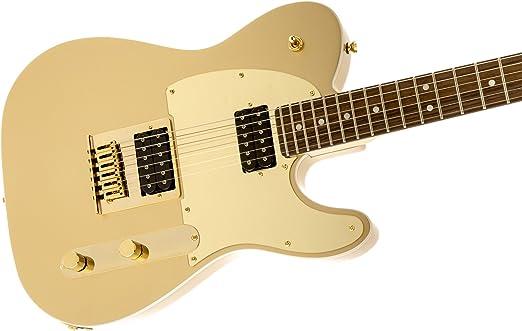 Squier por Fender J5 Signature Series Telecaster guitarra eléctrica – Laurel Fingerboard – Frost Gold: Amazon.es: Instrumentos musicales