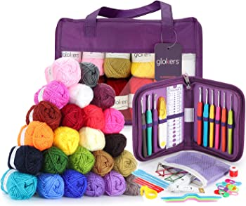 Glokers Crochet Hooks and Yarn Set