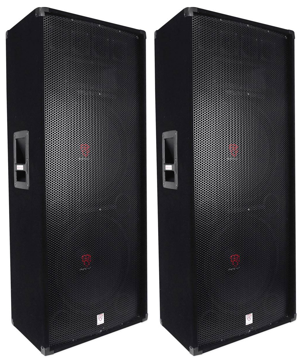 (2) Rockville RSG15.24 Dual 15 3000 Watt 3-Way 4-Ohm Passive DJ/PA Speaker by Rockville