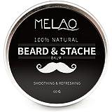 Balsamo per barba con olio di argan e burro di mango, Cera per barba naturale per barba e balsamo per styling, 60g