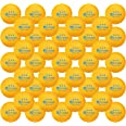 KEVENZ 60-Pack 3 Star Ping Pong Balls,Advanced Table Tennis Ball,Bulk Outdoor Ping Pong Balls (Orange, White)