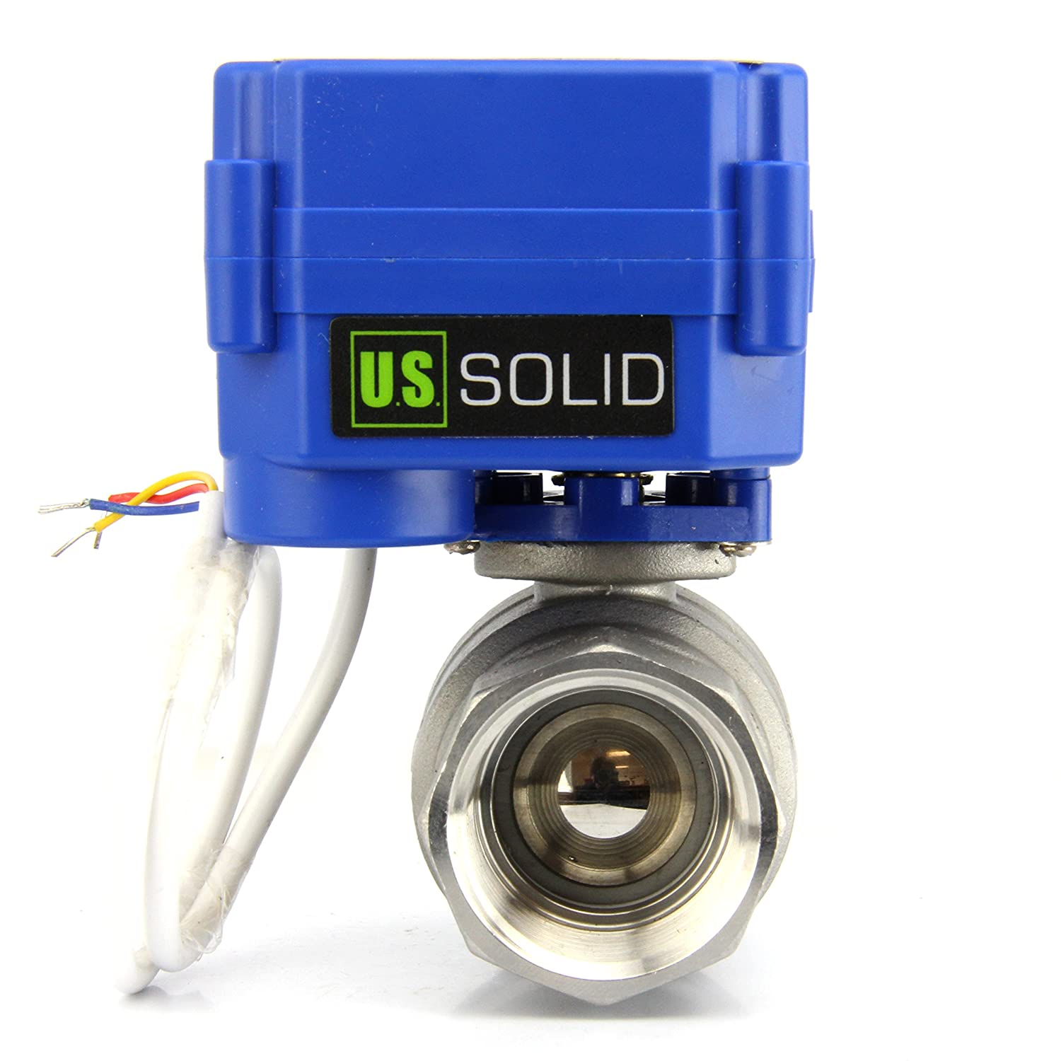 "Motorized Ball Valve- 1"" Stainless Steel Electrical Ball Valve with Full Port, 9-24V AC/DC and 3 Wire Setup by U.S. Solid"
