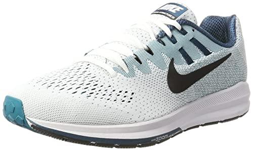 best authentic 51683 ffa19 Nike Men s Air Zoom Structure 20 Running Shoes, (White Black-Blustery-