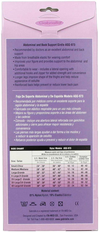 0edf04d8af Amazon.com  GABRIALLA ASG-973 Abdominal   Back Support Girdle (Medium)   Health   Personal Care