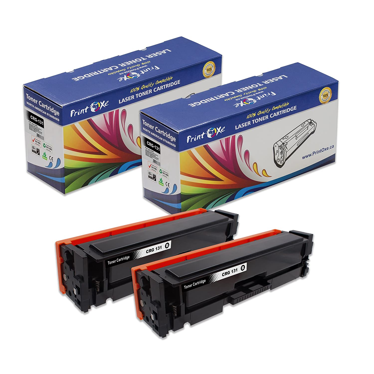 PrintOxe™ Compatible Set for CRG-131 of 4 Laser Toner Cartridges; Black, Cyan, Magenta & Yellow for Canon Printer Models: LBP7100Cn , LBP7110Cw , MF6680DN and ImageClass models MF8210Cn , 8280 , MF628Cw(JP) , MF623Cn , MF624Cw and IC MF628Cw , 626Cn