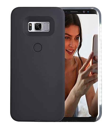lowest price 3363c 5358d AUYOUWEI Galaxy S8 Plus Case, LED Illuminated Selfie Light Case Cover  [Rechargeable] Light Up Luminous Selfie Flashlight Cell Phone Case for  Samsung ...