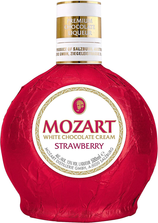 Mozart White Chocolate Cream Strawberry 0,5l: Amazon.de: Bier, Wein &  Spirituosen