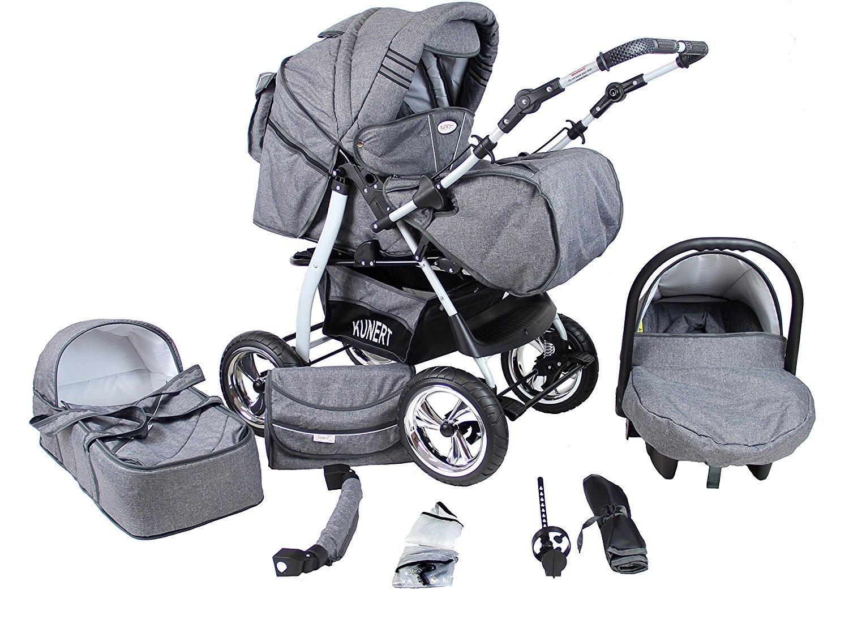 a9c0f18ed7 Clamaro 'VIP' 3in1 Premium Kombikinderwagen System, Kinderwagen Kombi mit  Babywanne, Buggy und