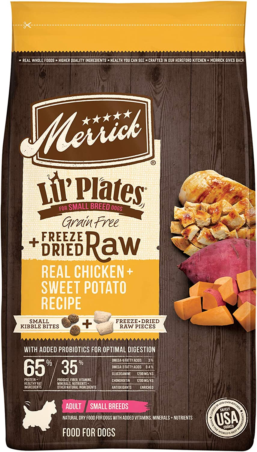 Merrick Lil Plates Grain Free Small Breed Freeze Dried Raw Bites Dry Dog with Real Meat
