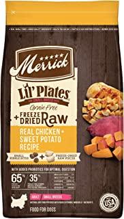 product image for Merrick Lil Plates Grain Free Small Breed Freeze Dried Raw Bites Dry Dog with Real Meat