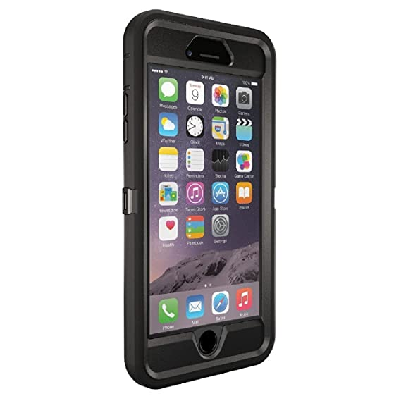 official photos f205e 981e1 OtterBox Defender Series 77-50732 Protective Case for iPhone 6 Plus -  Frustration Free Packaging - Black