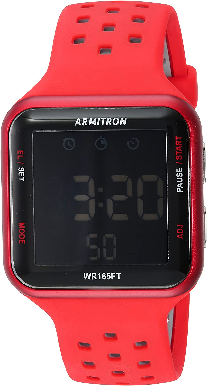 Armitron Sport Unisex 40 8417 Digital Chronograph Silicone Strap Watch