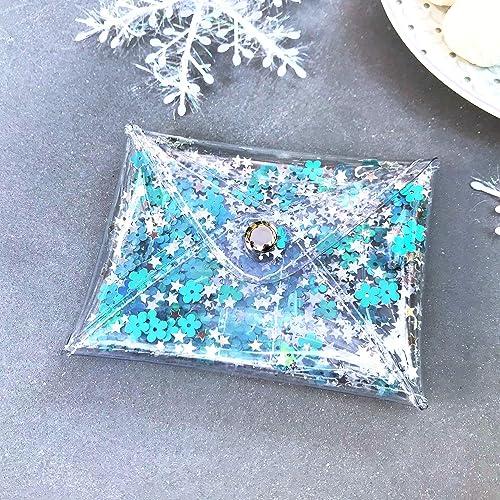 6980c5101f1 Amazon.com: Handmade Small Transparent Holographic Glitter Coin ...