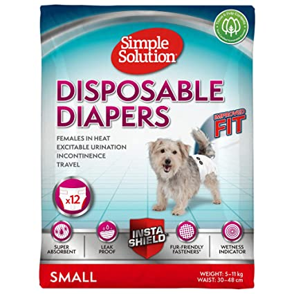 Simple Solution Disposable,Small Dog Diaper, 12 count Amazon.com: