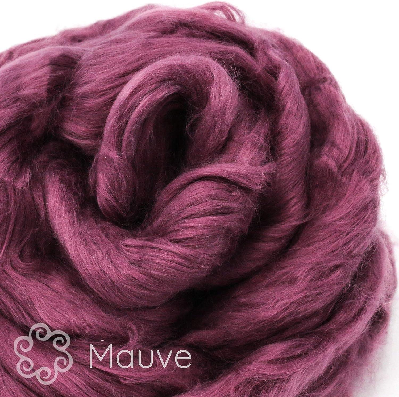 Cotton Fiber for Spinning Mint Blending Soft Vegan Combed Top Felting /& Fiber Arts