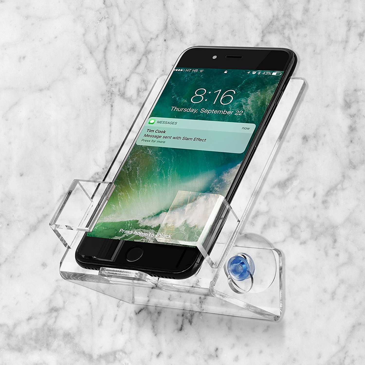 Bath & Shower Car Cell Phone Case Stand Holder. Caddy Tray Mount With Two Powerful Strong Suction Cups Perfect For All Phones Iphone Galaxy. Clear Acrylic By House Ur Home … (2) by House Ur Home