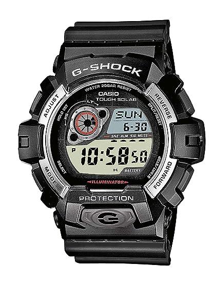 Casio G-SHOCK - Reloj digital de caballero de cuarzo con correa de resina negra (alarma, cronómetro, luz, solar) - sumergible a 200 metros: Amazon.es: ...