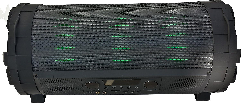 Altavoz PORTATIL Bluetooth Karaoke 60W Reales (600W PMPO) con Luces LED Y MICROFONO Guitarra USB SD Bluetooth Grande Y Potente: Amazon.es: Electrónica