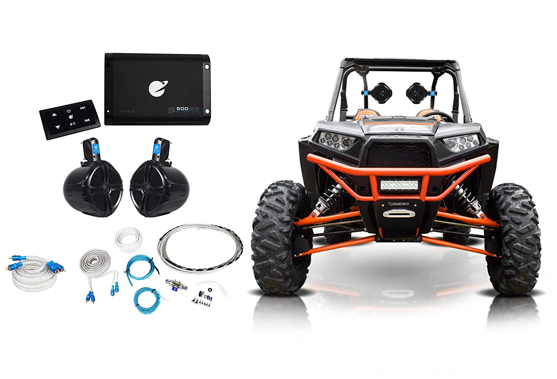 2 Rockville 8 Tower Speakers Bluetooth Amplifier Polaris Rzr 1000 Fuse Box Remote Atv Utv Automotive