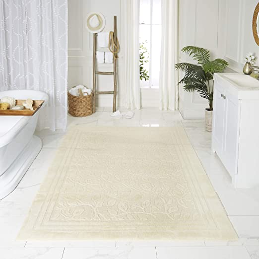Amazon Com Mohawk Home Wellington Bath Rug 2 6x4 2 6 X 4 2 Nb Ivory Home Kitchen