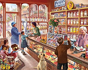 White Mountain Puzzles Old Candy Shop - 1000 Piece Jigsaw Puzzle
