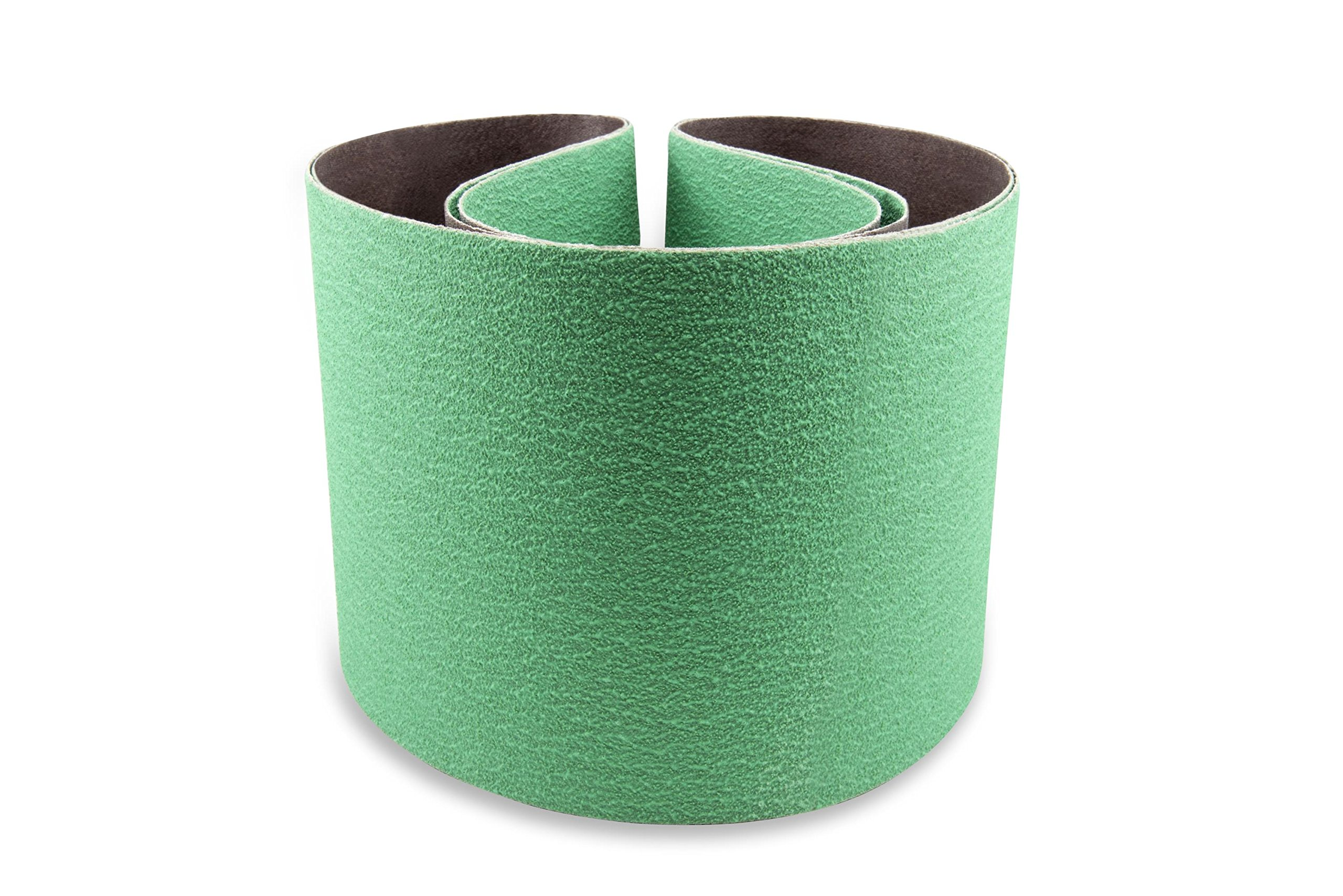 6 X 48 Inch 80 Grit Metal Grinding Ceramic Sanding Belts, Extra Long Life, 2 Pack