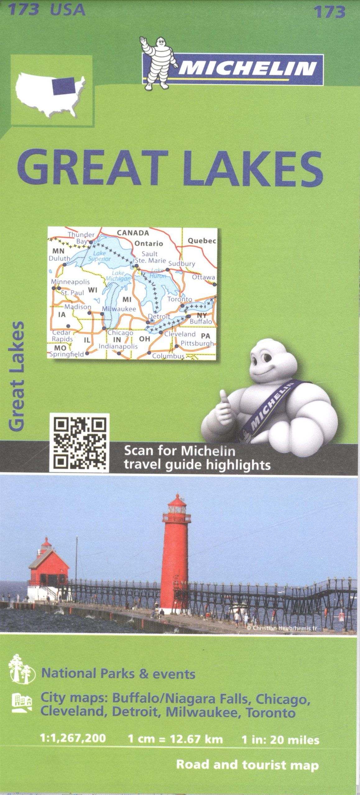 Map Of Usa Great Lakes.Michelin Usa Great Lakes Map 173 Michelin Zoom Usa Maps Michelin