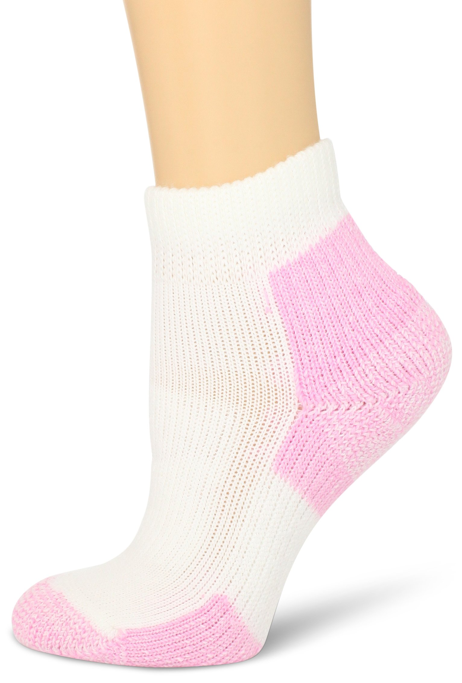 Thorlos Women's DWMXW Walking Thick Padded Ankle Sock, Pink, Large