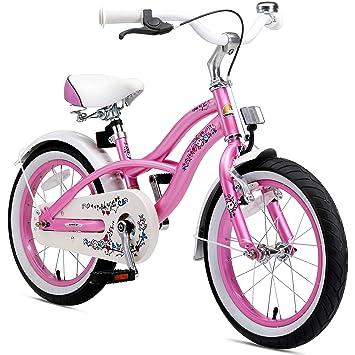 Bikestar | Bicicleta para niños y niñas 16 Pulgadas | Color Rosa | A Partir de