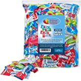 Airheads Bulk - Bulk Candy - Air Heads Mini Bars Variety Pack, Watermelon, Cherry, Blue Raspberry, Mystery, Chewy Fruit Candi