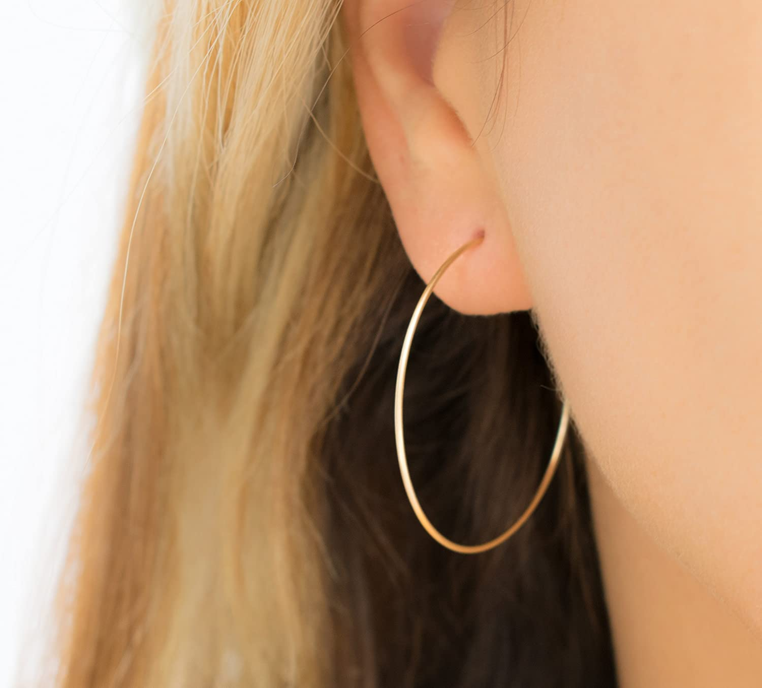 Hoops Earrings Simple Classic and Minimalist Gold Filled Jewelry