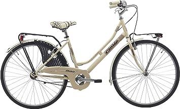 Bicicleta cicli Cinzia decoville Mujer, marco de acero, 6 velocidades ...