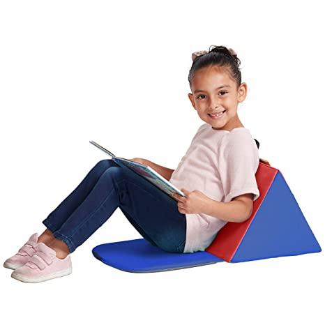 Excellent Ecr4Kids Softzone Carry Me Soft Seat With Storage Book Pocket And Handle Portable Folding Seat Reading Cushion For Kids And Toddlers Blue Red Gmtry Best Dining Table And Chair Ideas Images Gmtryco