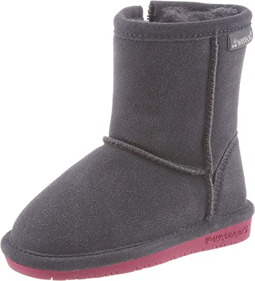 7. Bearpaw Emma Toddler Zipper Mid Calf Boot