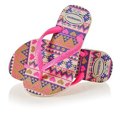 8bd185e40 Havaianas Girls  Kids Slim Fashion Flip Flops  Amazon.co.uk  Shoes   Bags