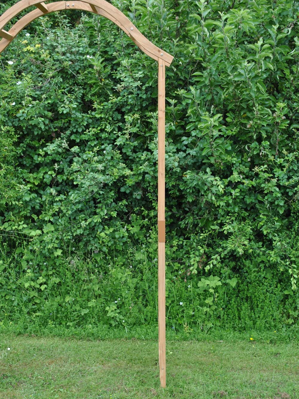 Selection GFH798 - Arco de madera para jardín con parte superior curva