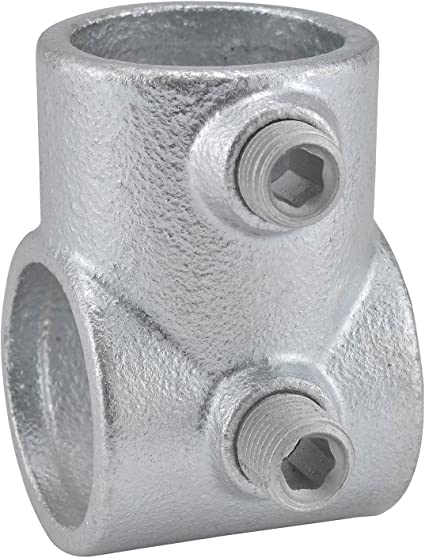 Malleable Iron Pipe Rail Fitting Single Socket Tee 6 Pack Kee 1-1//4 Inch Pipe