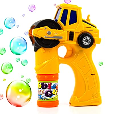 Toysery Engineering Bubble Shooter Gun | Automatic Bubbling | Comes with Light and Music | Endless Fun | Simple and Easy to Use | Best Gift for Kids | for Ages 3+: Toys & Games