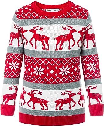 Bambini Natale Novità Maglione Ragazzi Ragazze Natale Vintage retrò bambini maglioni
