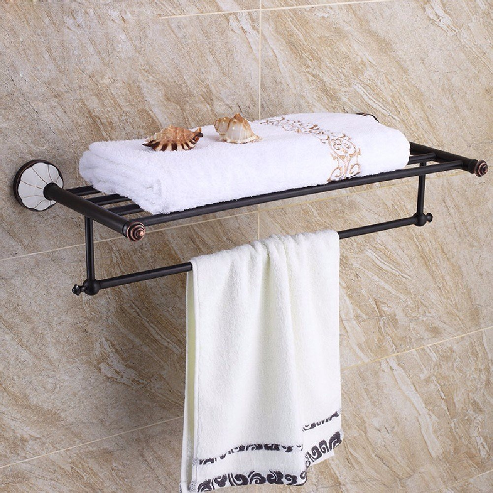 HQLCX Towel Stand, American Antique, Black Bronze Bath Towel Bar