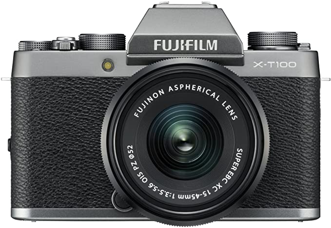 Amazon.com : Fujifilm X-T100 Mirrorless Digital Camera w/XC15-45mmF3.5-5.6 OIS PZ Lens - Dark Silver : Camera & Photo