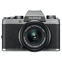 Fujifilm X-T100 Mirrorless Digital Camera w/XC 15-45PZ Lens kit Dark Silver
